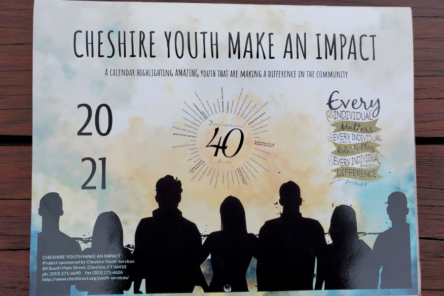 "This year, Cheshire Youth Services has created a calendar entitled ""Cheshire Youth Make an Impact"" (top photo) to recognize some of the projects that local youth put together in 2020."