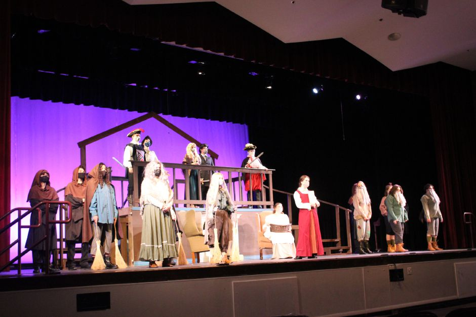 "Mariah Melendez/Cheshire Herald – The cast and crew of Cheshire High School's production of ""Little Women"" have been rehearsing since January. The group will record their production and release it to the public sometime at the beginning of May."