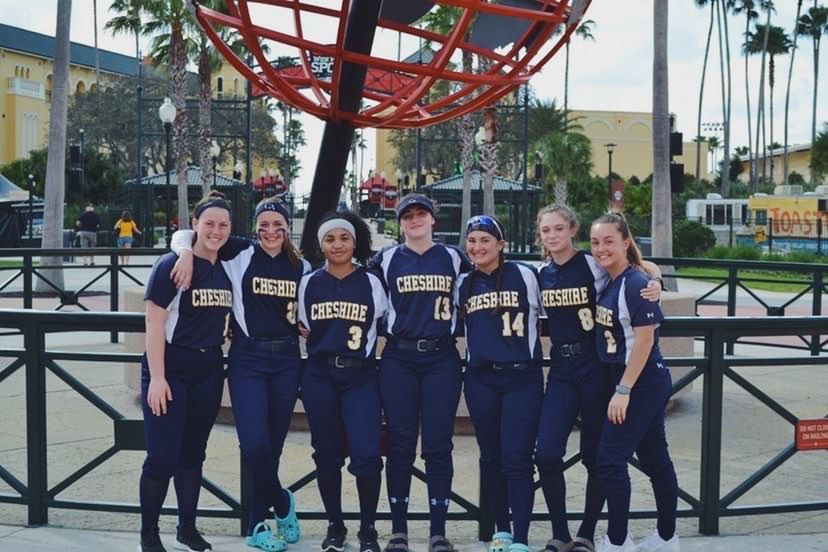 CA pitchers, catchers, and infielders posed for a photo at the ESPN Wide World of Sports Complex in Orlando, Florida. Mia Ferry, Riley Norwood, Julia