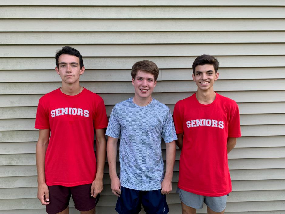 From left, senior tri-captains Brendan Mellitt, Charlie Pettit, and Parker Arai are key returning runners for CHS boys