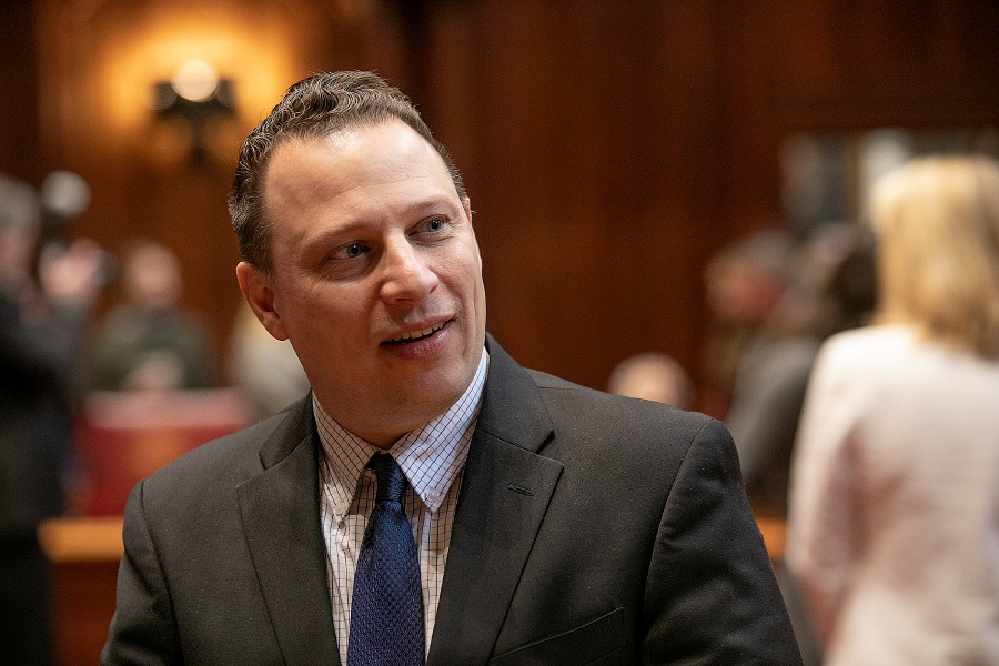 Dave Zajac/Record-Journal – State Senator Rob Sampson (D-13) will be seeking a second term in the Senate up in Hartford.