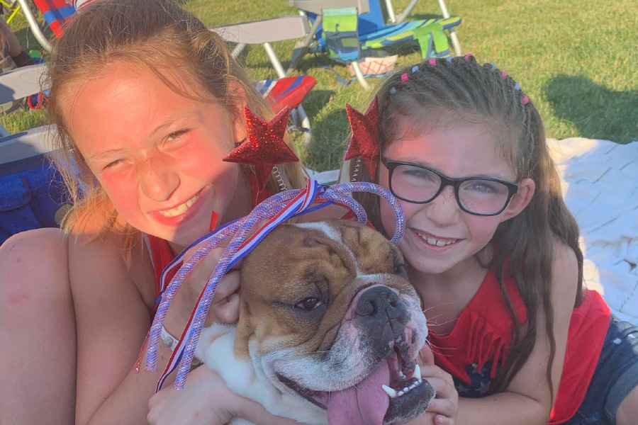 The Artes family of Prospect is excited their one year, three-month-old English bulldog Charlie, is home, after having been gone for 35 days.