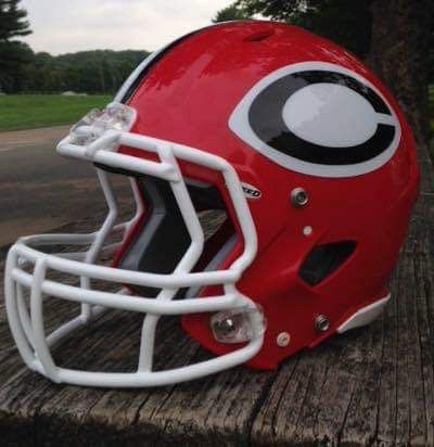 Submitted photo of CJF football helmet.