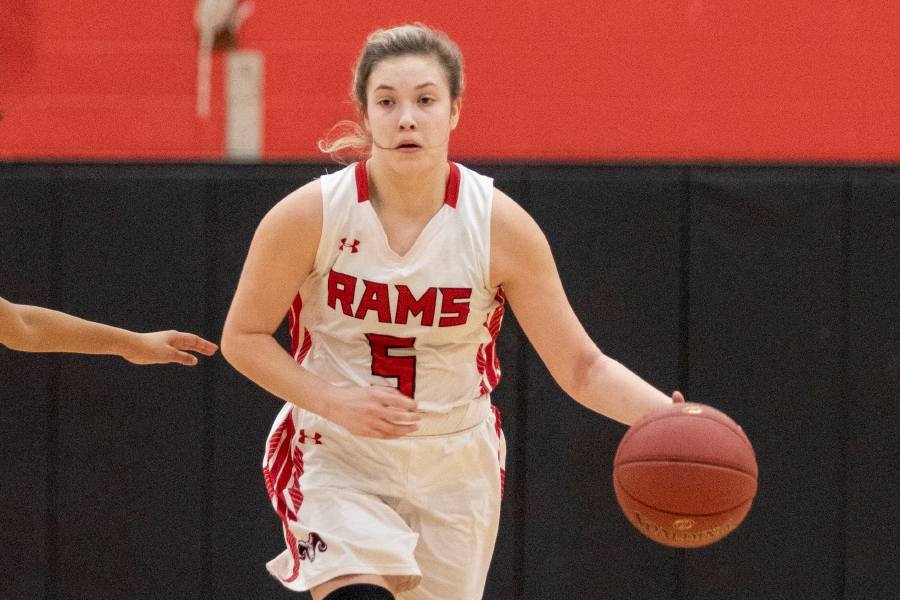 Guard Kaylee Clark netted 16 points to lead CHS girls' basketball on Friday. Photo taken by James Brandolini/Cheshire Herald.