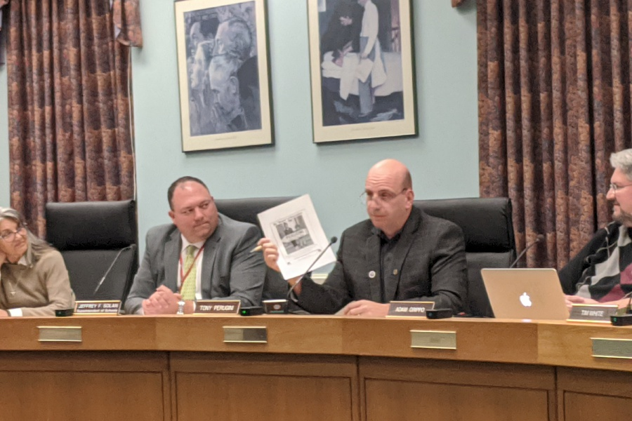 Michael Gagne/Record-Journal – Anthony Perugini, elected unanimously by fellow Board of Education members as the group