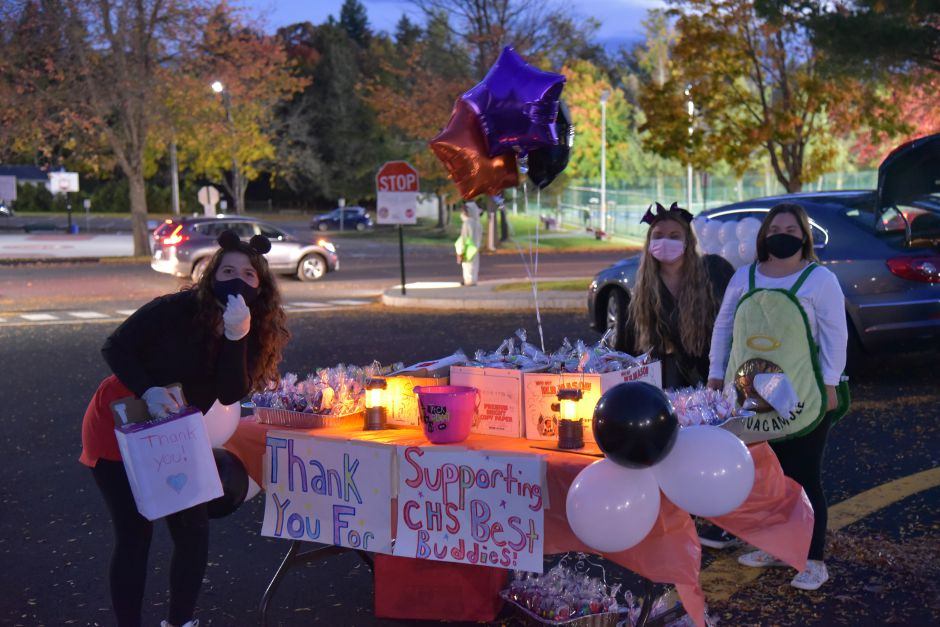 On Oct. 24 of last year, CHS Best Buddies hosted a Spooktacular drive through event to allow local children to celebrate Halloween. Submitted photo.