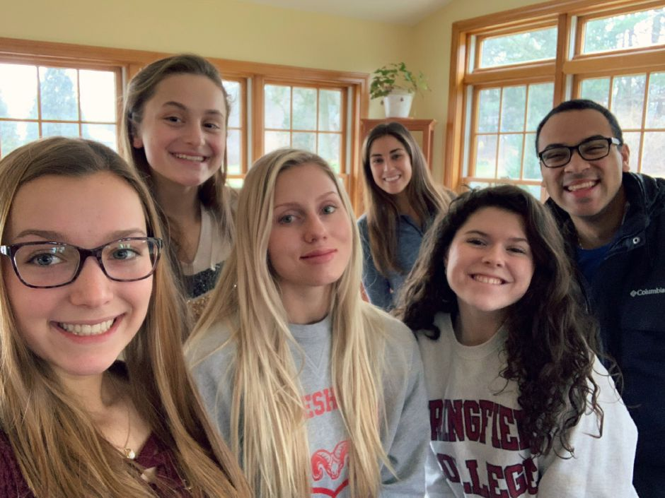"Submitted photo – Olivia Gesler, Alyssa Behuniak, Jenna Smith, Taylor Sickles, Yuliana Tsapar, and RJ Streater make up the ""Rams 4 a Remedy"" team."