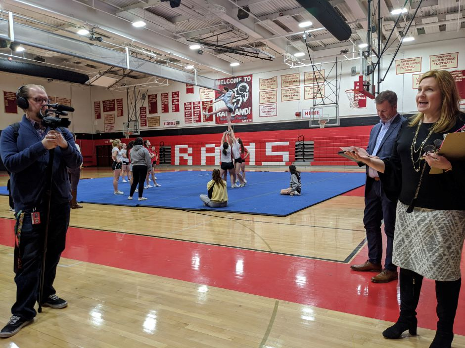 School Modernization Committee tours Cheshire High School