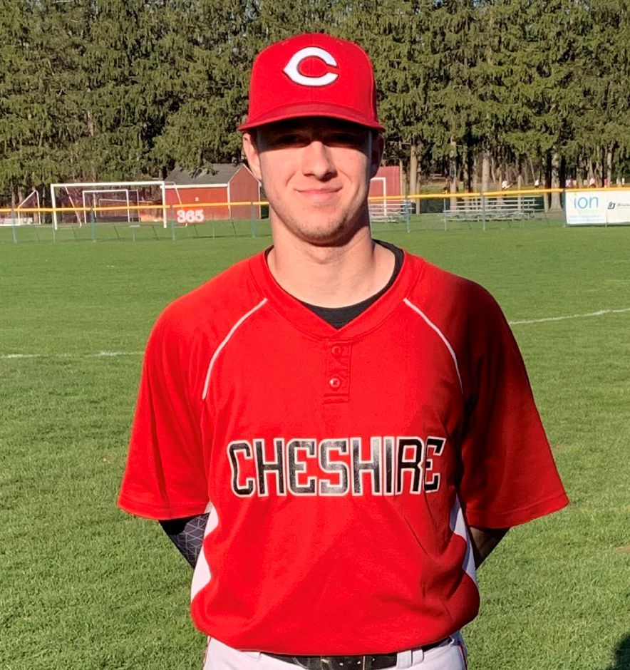 Senior captain/shortstop Ryan Scialabba went four-for-four in his baseball opener. Photo taken by Greg Lederer/Cheshire Herald.