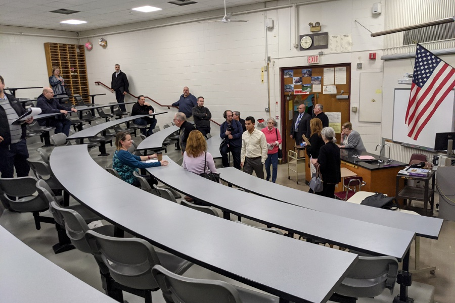 File photo – School Modernization Committee toured Cheshire High School at the beginning of 2020.