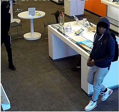 Photo courtesy of the Cheshire Police Department - These men are suspected of robbing an AT&T Retail Store in Cheshire on Monday, Jan. 20.