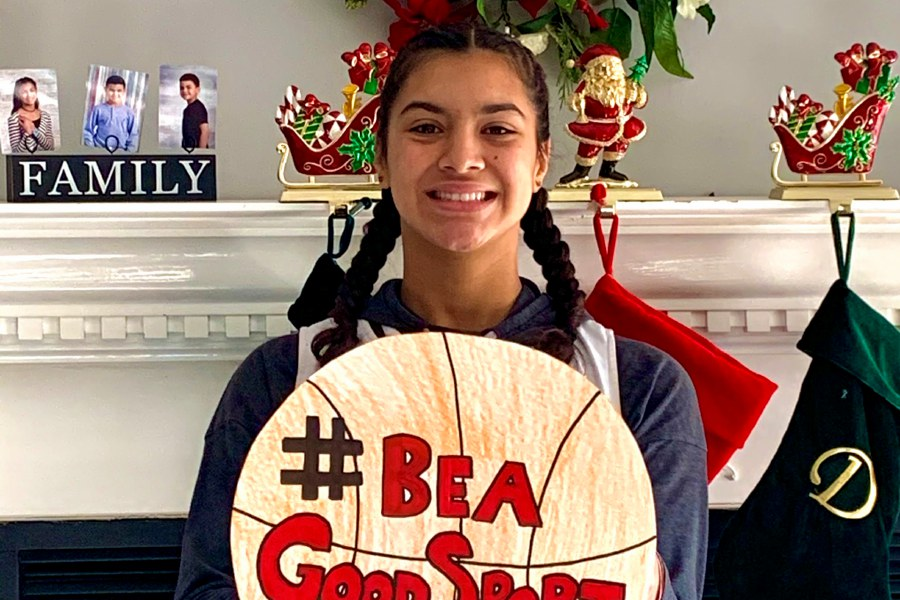 "Cecilia Torres organized the ""Be a Good Sport"" campaign to allow people to have an athletic experience at the end of the year. Photo courtesy of Michelle Torres."
