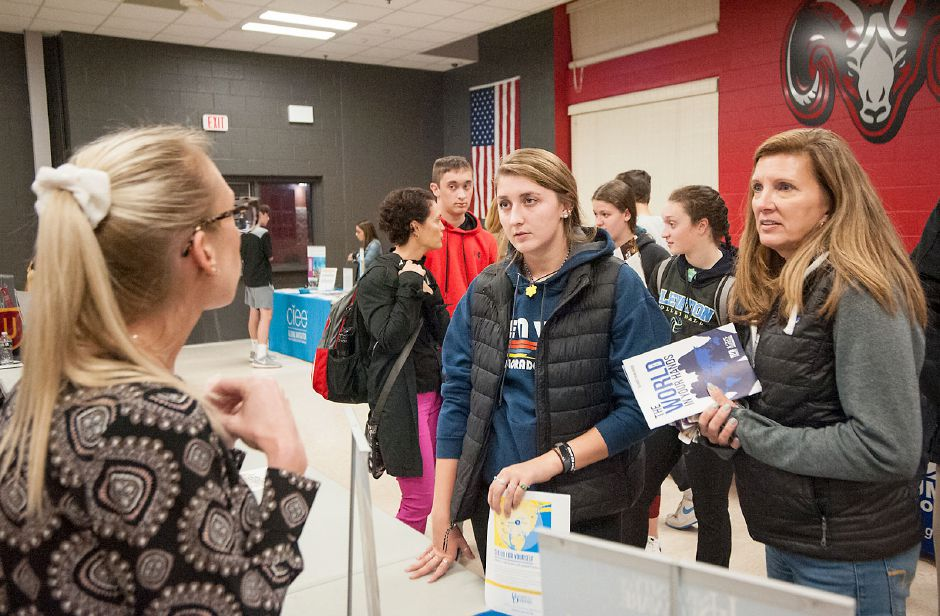 Al Valerio/Cheshire Herald - College Fair at Cheshire High School on Oct. 17.