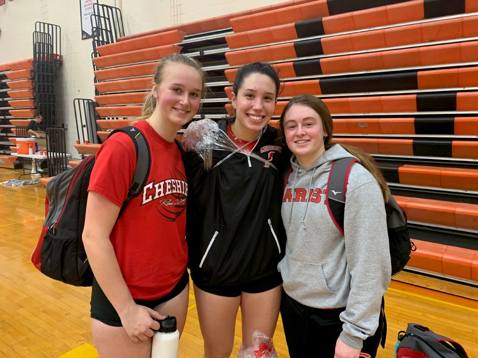 From left, Alenna Zebarth, Lindsey Abramson, and Ari Perlini helped CHS girls