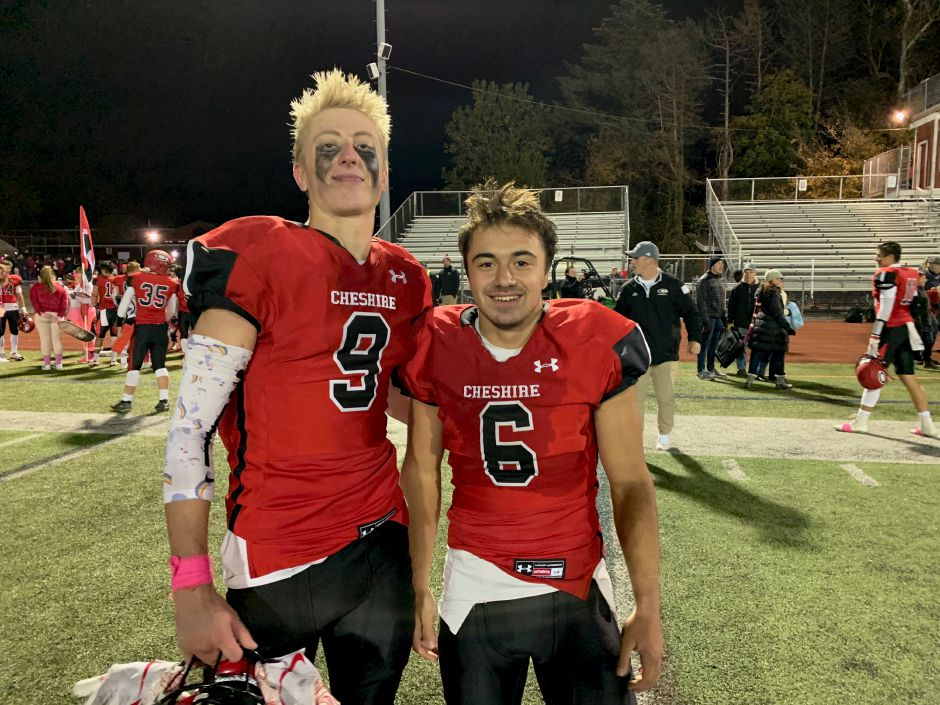 From left, junior Jack Lovelace and sophomore Christian Russo have helped the Rams earn a 4-1 record. Photo taken by Greg Lederer/Cheshire Herald.