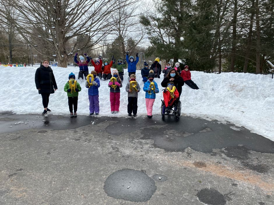 Norton students enjoying going outside to play in the snow. Submitted photo.