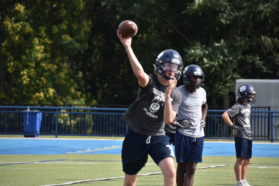 Jack Brandon makes a pass during practice. Photo courtesy of CA.