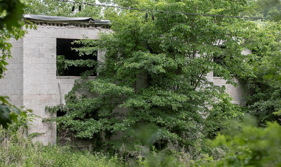 A dilapidated building on the former site of a nursing home off Hazel Drive in Cheshire, Tues., Jun. 23, 2020. A Stratford-based developer is proposing to redevelop the site of the long-vacant nursing home into a two-building apartment complex with 114 total apartments. Dave Zajac, Record-Journal