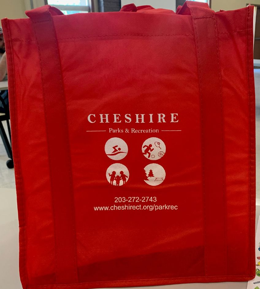 "Photo taken by Mariah Melendez. Cheshire Parks and Recreation ""take and make"" bags are being sold for $15 each."
