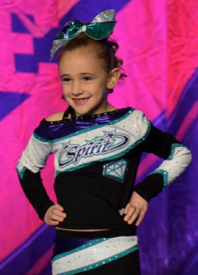 Caroline Villecco picked up cheerleading with Spirit All-Stars at age 4. Photo courtesy of Lauren Villecco.