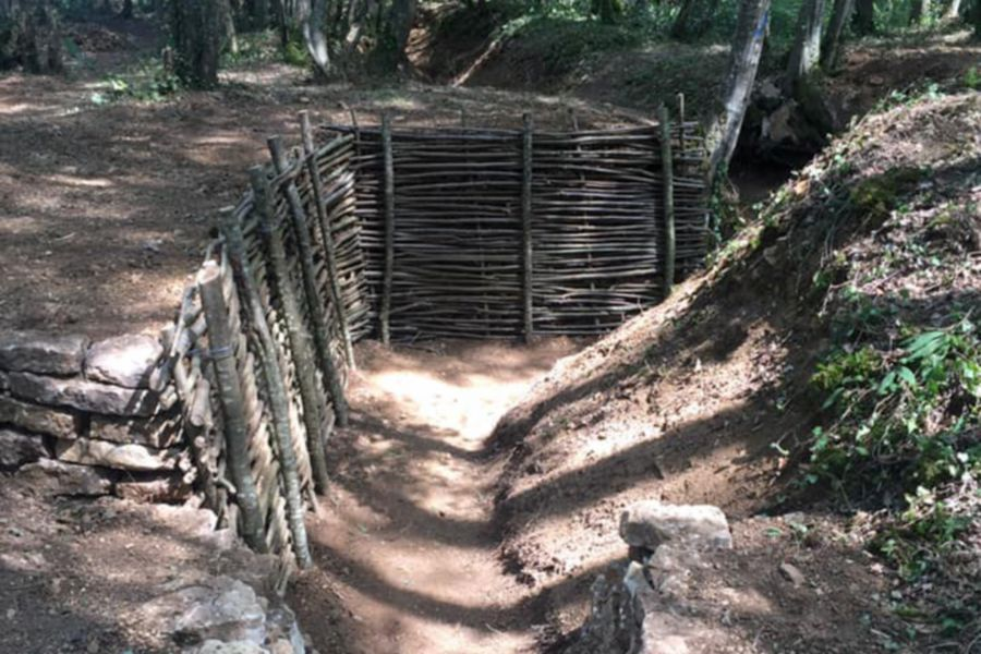 Photos courtesy of CT in World War I – A look at one of the completed trenches in Seicheprey, Lorraine, France.