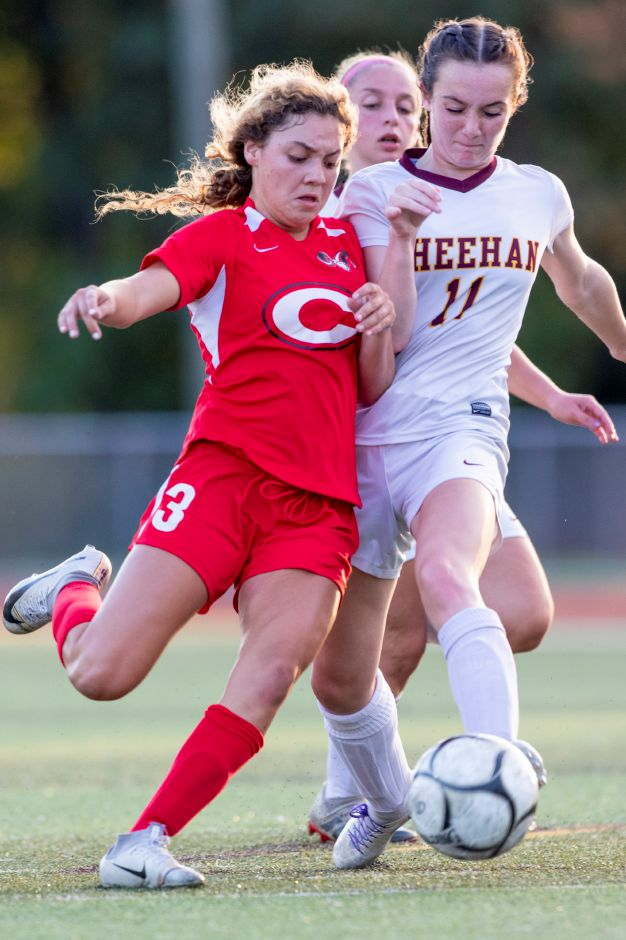 Sophomore soccer player Gabby Tirado was named the SCC Division A Player of the Year. Photo taken by James Brandolini/Cheshire Herald.