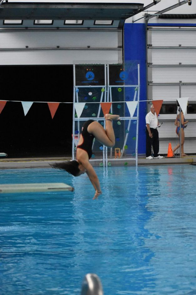 Natalie DeMatteo became Cheshire's top diver this fall. Submitted photo.