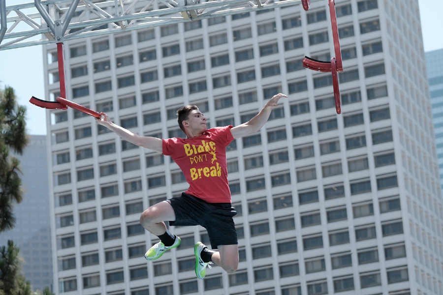 Cheshire resident Blake Feero will test his skill set in the second season of American Ninja Warrior Junior. Photo courtesy of ANW.