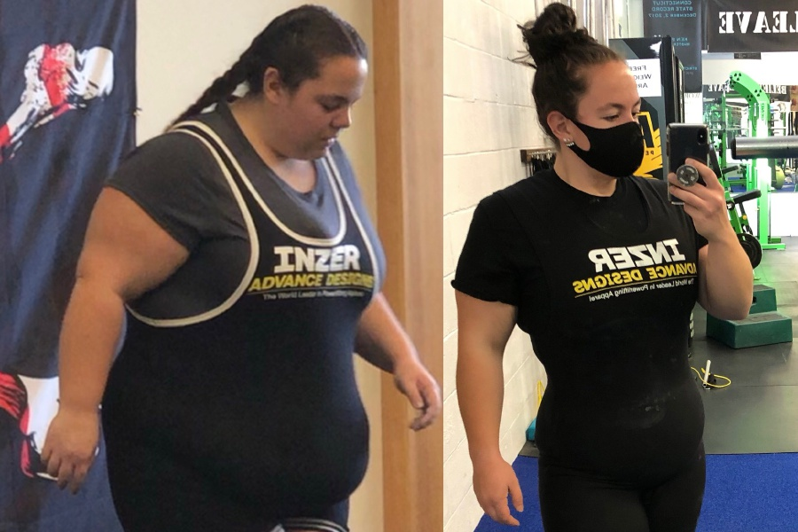 Since committing to a healthier lifestyle, Cheshire's Kierstyn Bourdeau has lost 180 pounds and developed into a world-record holder in power lifting.