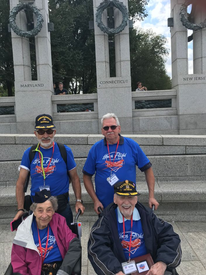 Submitted photo – Nora Adams and Robert Hughey at the World War II Memorial in Washington, D.C.
