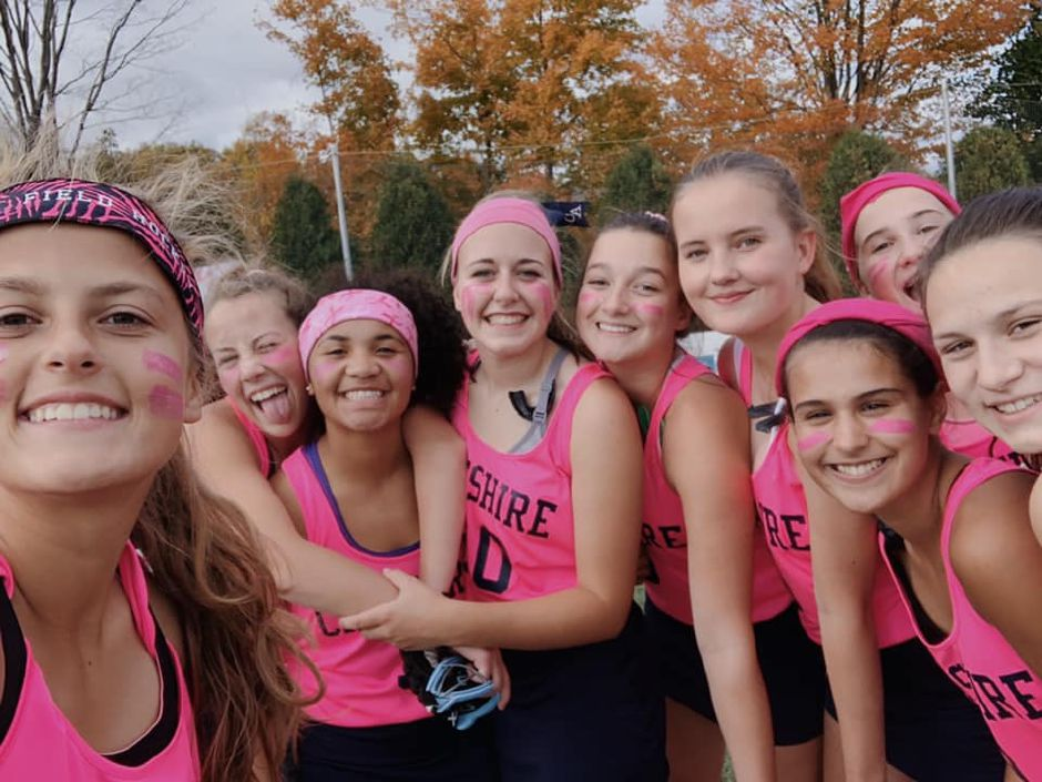 Cheshire Academy field hockey enjoyed winning 1-0 over Marianapolis Prep in their Pink Game. Photo courtesy of Riley Norwood.