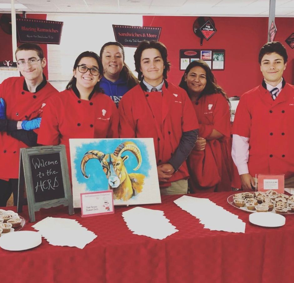 For their food-service class, CHS students volunteer to cater events. Photo courtesy of Eileen Wildermann.
