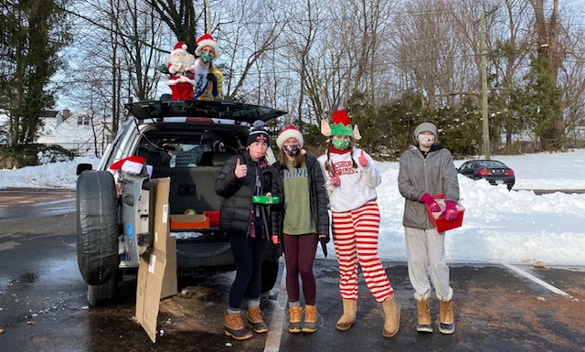 On Dec. 20, CHS Best Buddies ran a Driving Through A Winter Wonderland Event to allow Cheshire youngsters to enjoy treats, play with crafts, and take photos with Santa Claus. Submitted photo.