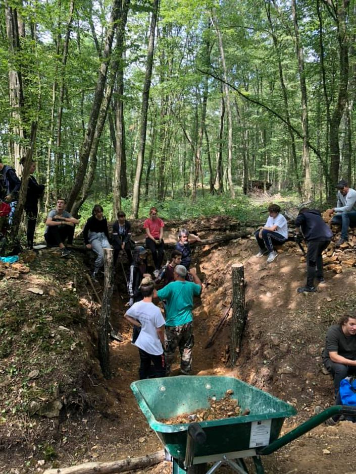 Photos courtesy of CT in World War I – Refurbishing the trenches took a lot of hard work on the part of 15 high school-aged students who attended the first-ever program of its kind in the U.S.