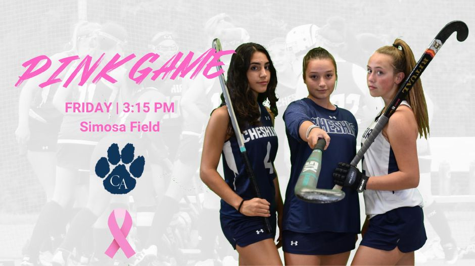 CA field hockey hosts their Play For The Cure Game on Friday. Photo courtesy of CA.
