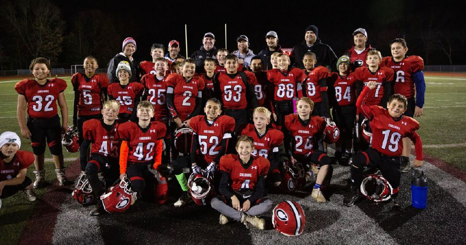 CJF fifth grade placed runner-up in the Shoreline Youth Football Conference this fall. Submitted photo.