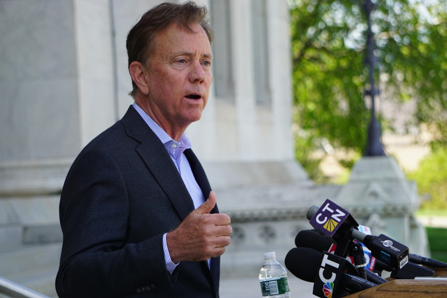 Gov. Ned Lamont announced the dissolution of the Partnership for Connecticut on Tuesday morning in a hastily arranged press conference at the Capitol. |CLOE POISSON :: CT MIRROR