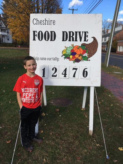 Submitted photo by Marlena Soble. 2018 Cheshire Food Drive