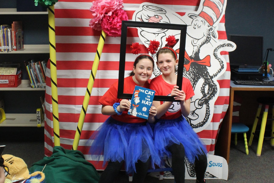 Thing 1 & Thing 2; Avonlea Tacchi and Allison Waggoner