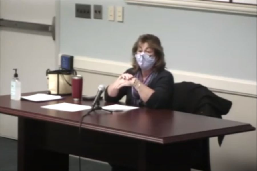 Mariah Melendez/Cheshire Herald – Chesprocott Health District Director Maura Esposito provides the Cheshire Town Council an update on COVID-19 mitigation efforts on Oct. 13.