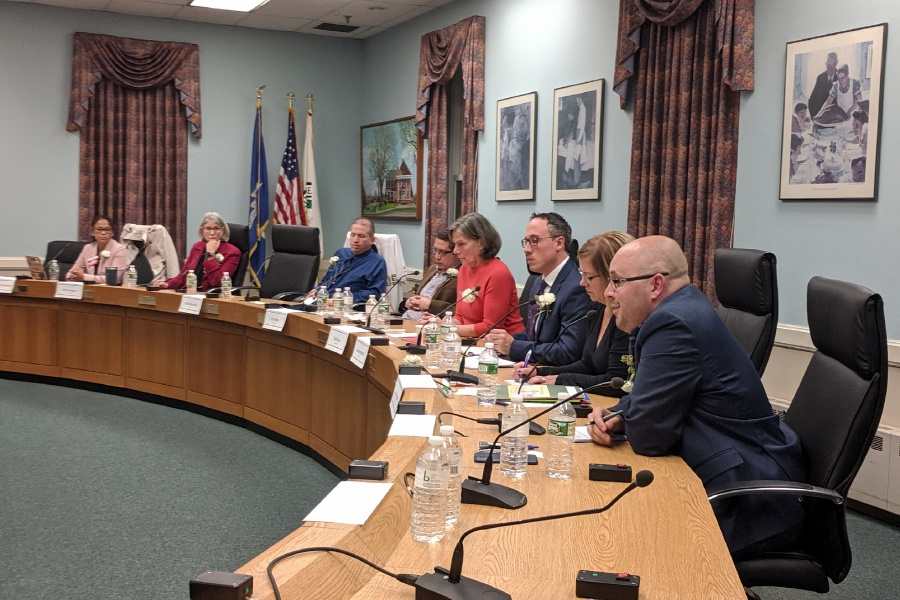 Candidates in the running for four open seats on the Board of Education made their cases for election during a forum at Town Hall Tuesday night.