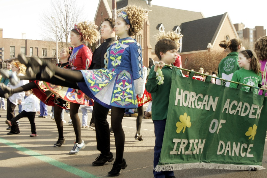 File photo – Members of the Horgan Academy of Irish Dance perform while in the St. Patrick