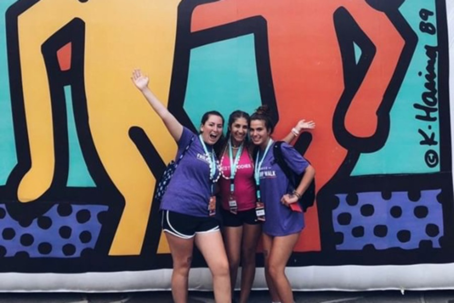 From left, Kathleen Moran, Alexa Cofrancesco, and Christine Anthony worked together in CHS Best Buddies. Photo courtesy of Cofrancesco.