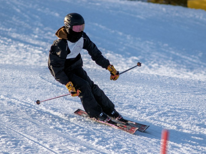 Julia DePalma has led the CHS girls' ski team in all of their four races this year. Photo taken by Aaron Flaum/Record-Journal.