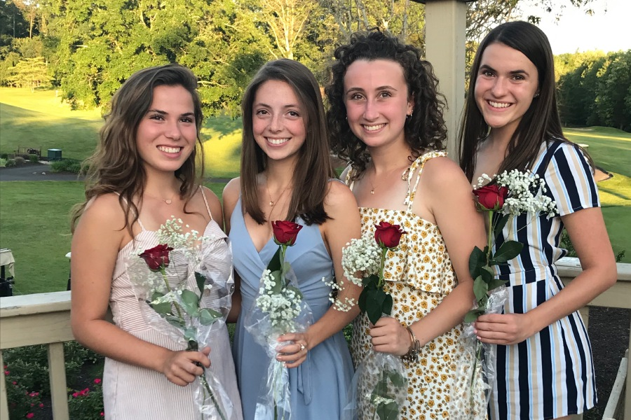 From left, seniors Christine Anthony, Jenna DeGennaro, Sophie Seigel, and Olivia Santoro are co-captaining CHS girls